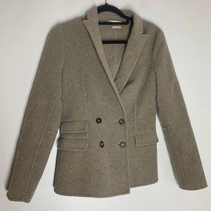 Massimo Alba Wool Coat Jacket Double Breasted Sand